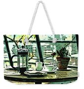 Breakfast Coffee Table Weekender Tote Bag