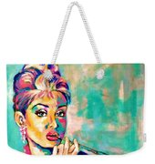 Audrey Hepburn Painting, Breakfast At Tiffany's Weekender Tote Bag