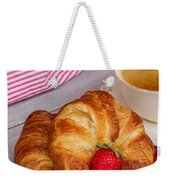 Breakfast With Croissants Weekender Tote Bag