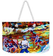 Breaking  The Ice Weekender Tote Bag