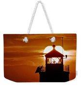 Breakwater Light Sunset Weekender Tote Bag