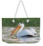 Breeding American White Pelican On Lower Sunshine Weekender Tote Bag