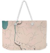 Bremen Bundesland Germany 3d Render Topographic Map Neutral Bord Weekender Tote Bag