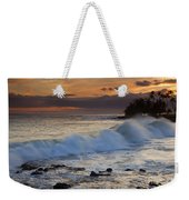 Brennecke Waves Sunset Weekender Tote Bag