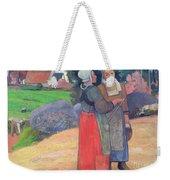 Breton Peasants Weekender Tote Bag by Paul Gauguin