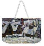 Breton Village Under Snow Weekender Tote Bag by Paul Gauguin