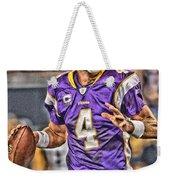 Brett Favre Minnesota Vikings Weekender Tote Bag