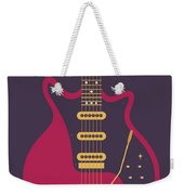 Red Special Guitar - Black Weekender Tote Bag