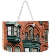 Brick And Green Weekender Tote Bag