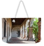 Brick And Stone Arches Line Walkway In Old Mission Ruin Weekender Tote Bag