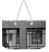 Brick Building Black And White Weekender Tote Bag