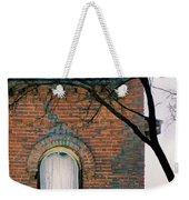 Brick Building Window With Bird Weekender Tote Bag