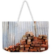 Brick Piled Weekender Tote Bag by Stephen Mitchell