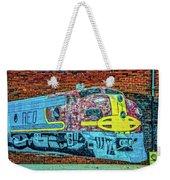 Brick Train Weekender Tote Bag