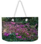 Brick Wall And Azalea Weekender Tote Bag