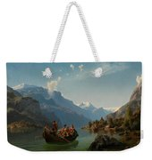 Bridal Procession On The Hardangerfjord Weekender Tote Bag