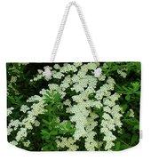 Bridal Wreath Weekender Tote Bag