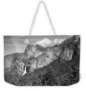Bridalveil Falls From Tunnel View B And W Weekender Tote Bag