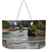 Bridge Across Mountain River Weekender Tote Bag
