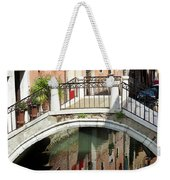 Bridge And Reflection Venice, Italy Weekender Tote Bag