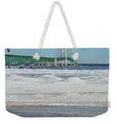 Bridge At Winter Weekender Tote Bag