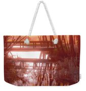 Bridge In Red Weekender Tote Bag