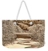 Bridge In Sepia Weekender Tote Bag
