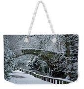 Bridge In Snow Weekender Tote Bag
