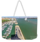 Bridge Of 25 April Panorama Weekender Tote Bag