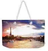 Bridge Of Alexandre IIi And Eiffel At Violet Sunset Weekender Tote Bag