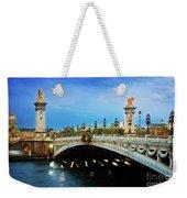 Bridge Of Alexandre IIi At Night Weekender Tote Bag