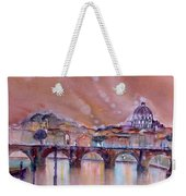 Bridge Of Angels - Rome - Italy Weekender Tote Bag