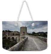 Bridge Of Besalu, Girona Provence, Catalonia, Spain-2 Weekender Tote Bag