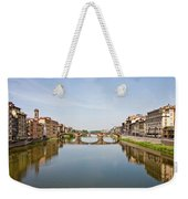 Bridge Over Arno River In Florence Italy Weekender Tote Bag