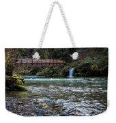 Bridge Over Hackleman Creek Weekender Tote Bag