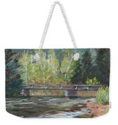 Bridge Over The Poudre Weekender Tote Bag