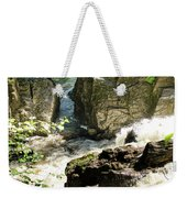 Bridge Over The River Braan, And The Black Falls In The Hermitage, At Dunkeld Weekender Tote Bag