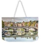 Bridge Over The River Tevere, Rome, Italy Weekender Tote Bag