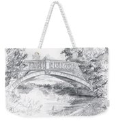 Bridge Over The River White Cart Weekender Tote Bag