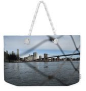 Bridge Through The Fence Weekender Tote Bag