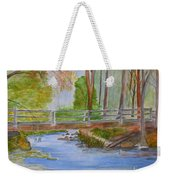 Bridge To Serenity   Smithgall Woods State Park Weekender Tote Bag