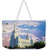 Brigham City Utah Temple Weekender Tote Bag