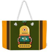 Bright And Colorful Robot Toy Weekender Tote Bag