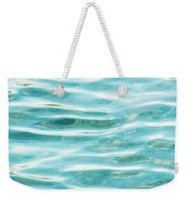 Bright Aqua Water Ripples Weekender Tote Bag