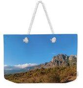 Bright Autumn Panorama Demerji Crimea Peninsula Weekender Tote Bag