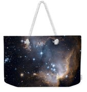 Bright Blue Newborn Stars Blast A Hole Weekender Tote Bag
