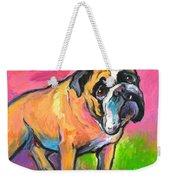 Bright Bulldog Portrait Painting  Weekender Tote Bag