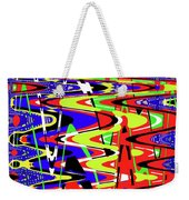 Bright Color Mix Abstract Weekender Tote Bag