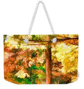 Bright Colored Leaves On The Branches In The Autumn Forest Weekender Tote Bag