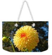 Bright Colorful Dahlia Flower Art Prints Baslee Troutman Weekender Tote Bag